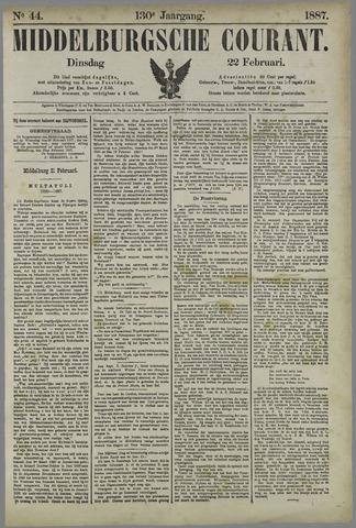 Middelburgsche Courant 1887-02-22