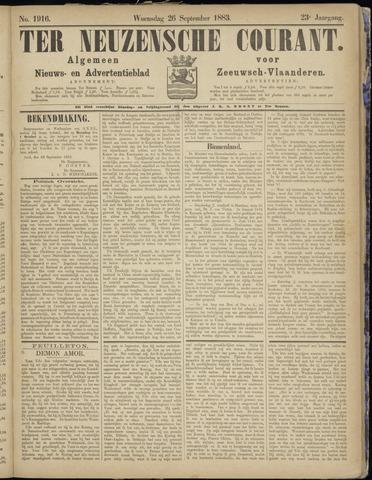 Ter Neuzensche Courant. Algemeen Nieuws- en Advertentieblad voor Zeeuwsch-Vlaanderen / Neuzensche Courant ... (idem) / (Algemeen) nieuws en advertentieblad voor Zeeuwsch-Vlaanderen 1883-09-26
