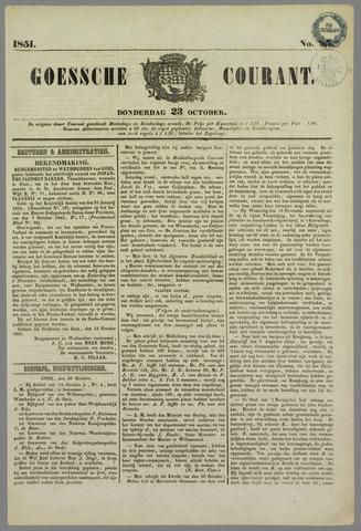Goessche Courant 1851-10-23