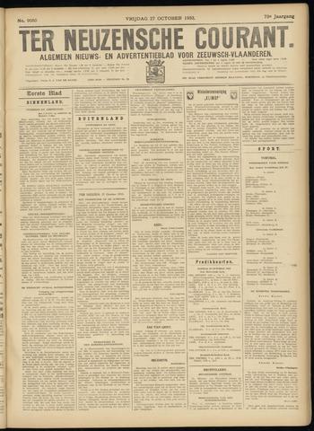 Ter Neuzensche Courant. Algemeen Nieuws- en Advertentieblad voor Zeeuwsch-Vlaanderen / Neuzensche Courant ... (idem) / (Algemeen) nieuws en advertentieblad voor Zeeuwsch-Vlaanderen 1933-10-27