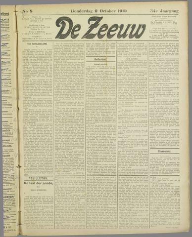 De Zeeuw. Christelijk-historisch nieuwsblad voor Zeeland 1919-10-09