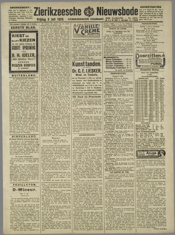 Zierikzeesche Nieuwsbode 1925-07-03