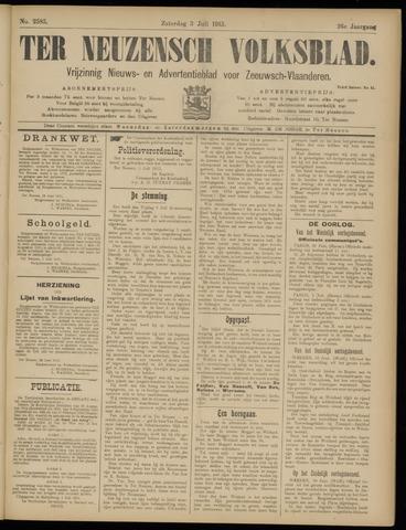 Ter Neuzensch Volksblad. Vrijzinnig nieuws- en advertentieblad voor Zeeuwsch- Vlaanderen / Zeeuwsch Nieuwsblad. Nieuws- en advertentieblad voor Zeeland 1915-07-03