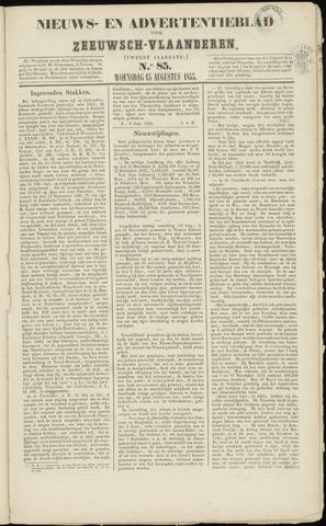 Ter Neuzensche Courant. Algemeen Nieuws- en Advertentieblad voor Zeeuwsch-Vlaanderen / Neuzensche Courant ... (idem) / (Algemeen) nieuws en advertentieblad voor Zeeuwsch-Vlaanderen 1855-08-15
