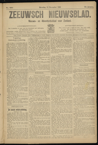 Ter Neuzensch Volksblad. Vrijzinnig nieuws- en advertentieblad voor Zeeuwsch- Vlaanderen / Zeeuwsch Nieuwsblad. Nieuws- en advertentieblad voor Zeeland 1919-12-13