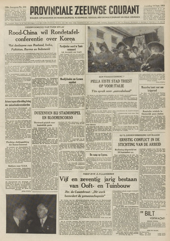 Provinciale Zeeuwse Courant 1953-09-14