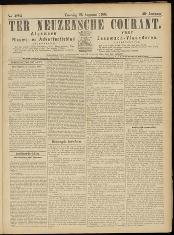 Ter Neuzensche Courant. Algemeen Nieuws- en Advertentieblad voor Zeeuwsch-Vlaanderen / Neuzensche Courant ... (idem) / (Algemeen) nieuws en advertentieblad voor Zeeuwsch-Vlaanderen 1906-08-25