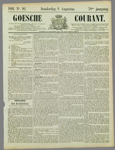 Goessche Courant 1891-08-06