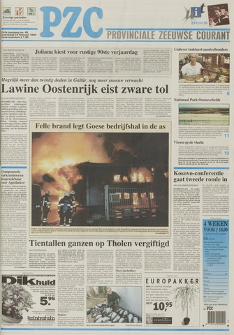 Provinciale Zeeuwse Courant 1999-02-24