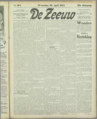 De Zeeuw. Christelijk-historisch nieuwsblad voor Zeeland 1924-04-23