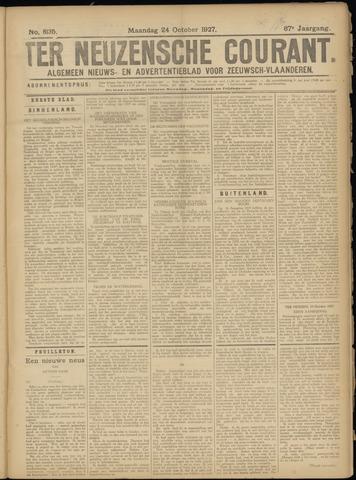Ter Neuzensche Courant. Algemeen Nieuws- en Advertentieblad voor Zeeuwsch-Vlaanderen / Neuzensche Courant ... (idem) / (Algemeen) nieuws en advertentieblad voor Zeeuwsch-Vlaanderen 1927-10-24