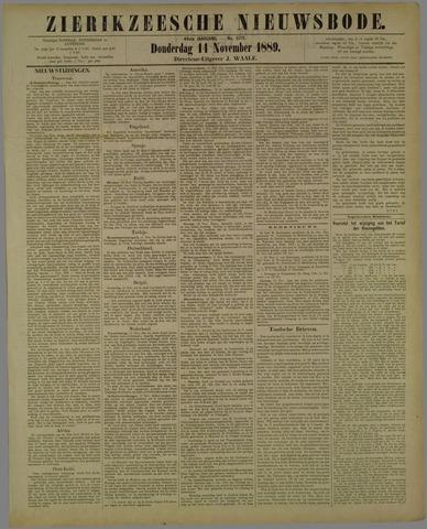 Zierikzeesche Nieuwsbode 1889-11-14