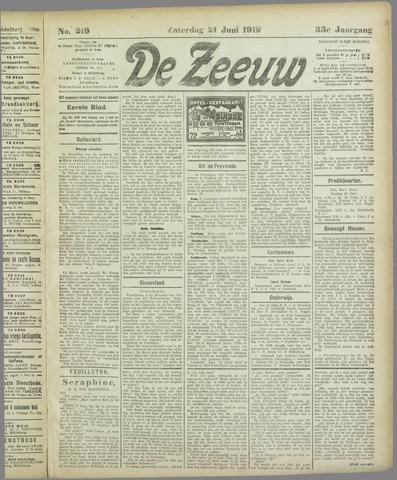 De Zeeuw. Christelijk-historisch nieuwsblad voor Zeeland 1919-06-21