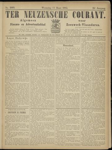 Ter Neuzensche Courant. Algemeen Nieuws- en Advertentieblad voor Zeeuwsch-Vlaanderen / Neuzensche Courant ... (idem) / (Algemeen) nieuws en advertentieblad voor Zeeuwsch-Vlaanderen 1885-03-11