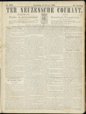 Ter Neuzensche Courant. Algemeen Nieuws- en Advertentieblad voor Zeeuwsch-Vlaanderen / Neuzensche Courant ... (idem) / (Algemeen) nieuws en advertentieblad voor Zeeuwsch-Vlaanderen 1900-10-11
