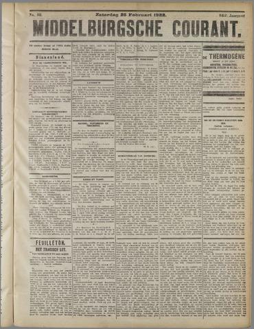 Middelburgsche Courant 1922-02-25