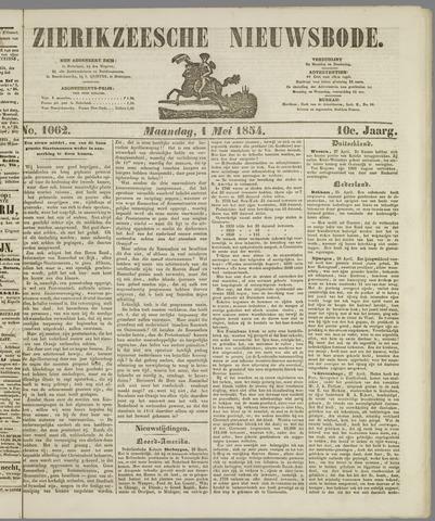 Zierikzeesche Nieuwsbode 1854-05-01