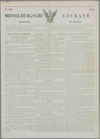 Middelburgsche Courant 1854-10-12