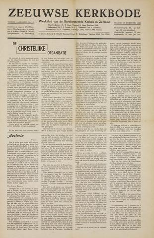Zeeuwsche kerkbode, weekblad gewijd aan de belangen der gereformeerde kerken/ Zeeuwsch kerkblad 1955-02-25