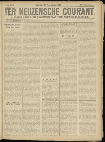Ter Neuzensche Courant. Algemeen Nieuws- en Advertentieblad voor Zeeuwsch-Vlaanderen / Neuzensche Courant ... (idem) / (Algemeen) nieuws en advertentieblad voor Zeeuwsch-Vlaanderen 1924-08-29