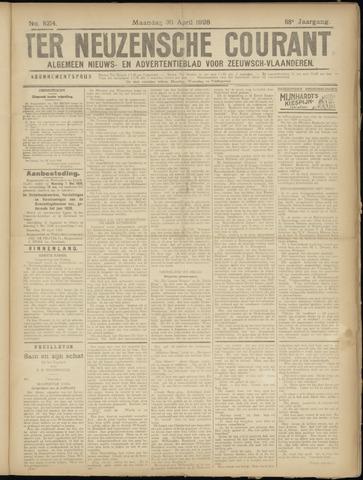 Ter Neuzensche Courant. Algemeen Nieuws- en Advertentieblad voor Zeeuwsch-Vlaanderen / Neuzensche Courant ... (idem) / (Algemeen) nieuws en advertentieblad voor Zeeuwsch-Vlaanderen 1928-04-30