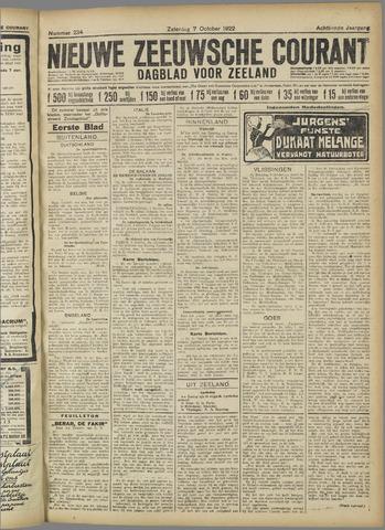 Nieuwe Zeeuwsche Courant 1922-10-07