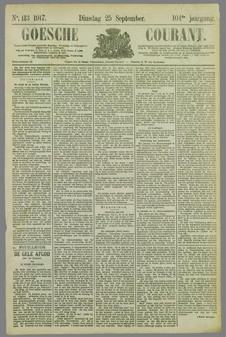 Goessche Courant 1917-09-25