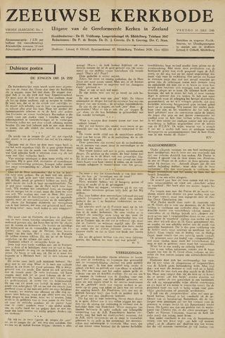 Zeeuwsche kerkbode, weekblad gewijd aan de belangen der gereformeerde kerken/ Zeeuwsch kerkblad 1948-07-16