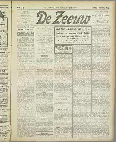De Zeeuw. Christelijk-historisch nieuwsblad voor Zeeland 1921-12-24