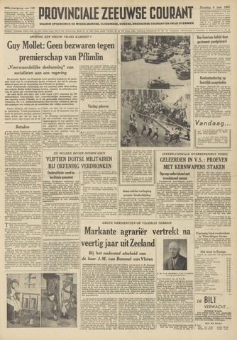 Provinciale Zeeuwse Courant 1957-06-04