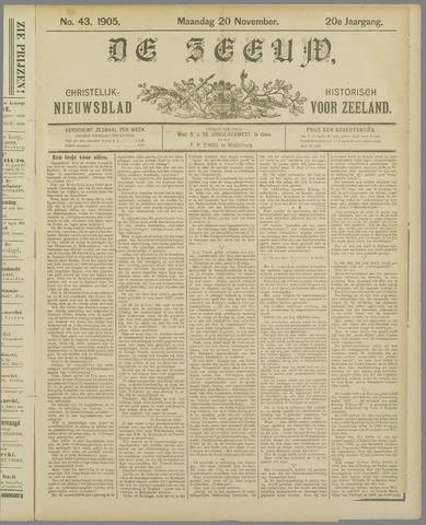 De Zeeuw. Christelijk-historisch nieuwsblad voor Zeeland 1905-11-20
