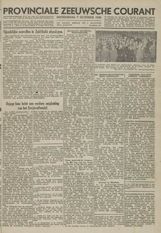 Provinciale Zeeuwse Courant 1943-10-07