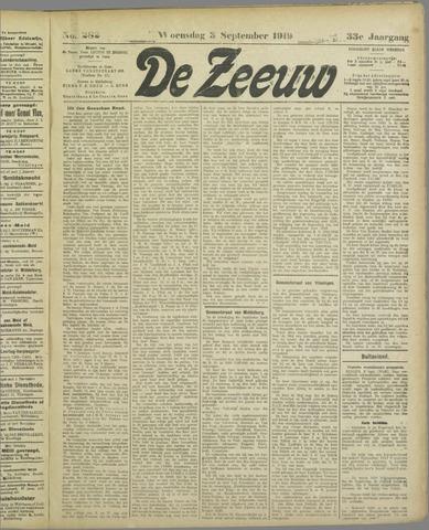 De Zeeuw. Christelijk-historisch nieuwsblad voor Zeeland 1919-09-03