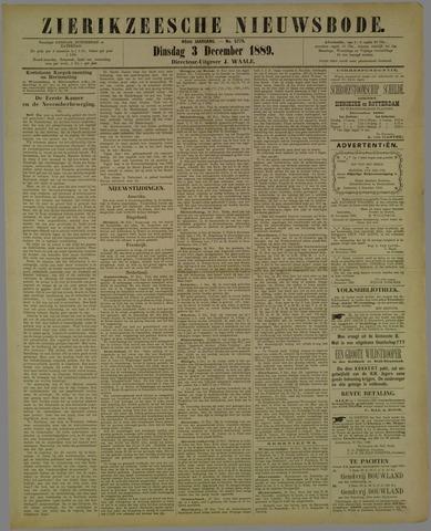 Zierikzeesche Nieuwsbode 1889-12-03