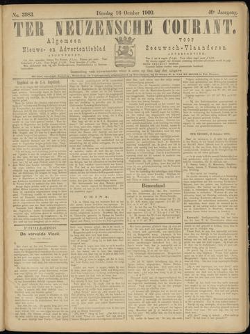 Ter Neuzensche Courant. Algemeen Nieuws- en Advertentieblad voor Zeeuwsch-Vlaanderen / Neuzensche Courant ... (idem) / (Algemeen) nieuws en advertentieblad voor Zeeuwsch-Vlaanderen 1900-10-16