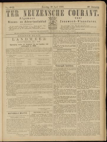 Ter Neuzensche Courant. Algemeen Nieuws- en Advertentieblad voor Zeeuwsch-Vlaanderen / Neuzensche Courant ... (idem) / (Algemeen) nieuws en advertentieblad voor Zeeuwsch-Vlaanderen 1906-04-28