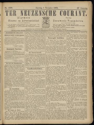 Ter Neuzensche Courant. Algemeen Nieuws- en Advertentieblad voor Zeeuwsch-Vlaanderen / Neuzensche Courant ... (idem) / (Algemeen) nieuws en advertentieblad voor Zeeuwsch-Vlaanderen 1902-11-01