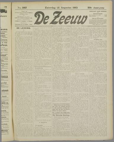 De Zeeuw. Christelijk-historisch nieuwsblad voor Zeeland 1915-08-14