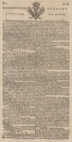 Middelburgsche Courant 1781