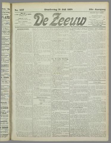 De Zeeuw. Christelijk-historisch nieuwsblad voor Zeeland 1918-07-11