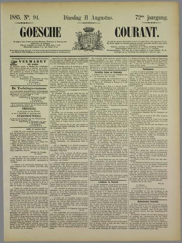 Goessche Courant 1885-08-11