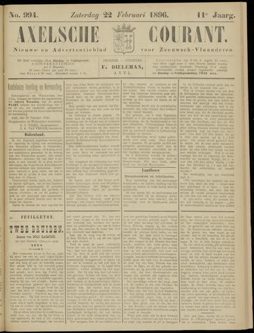 Axelsche Courant 1896-02-22
