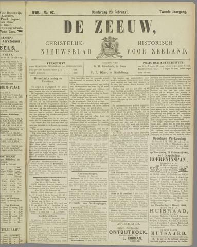 De Zeeuw. Christelijk-historisch nieuwsblad voor Zeeland 1888-02-23