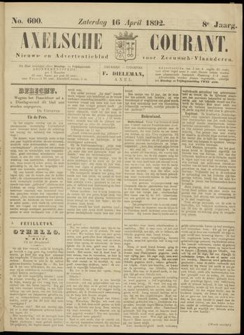 Axelsche Courant 1892-04-16