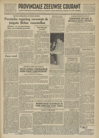 Provinciale Zeeuwse Courant 1951-08-18