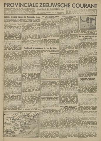 Provinciale Zeeuwse Courant 1944-08-21