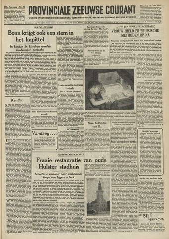 Provinciale Zeeuwse Courant 1952-02-19