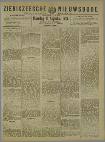Zierikzeesche Nieuwsbode 1913-08-11