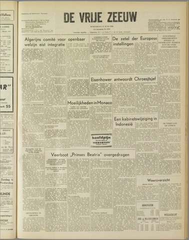 de Vrije Zeeuw 1958-06-11