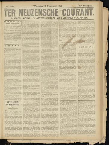 Ter Neuzensche Courant. Algemeen Nieuws- en Advertentieblad voor Zeeuwsch-Vlaanderen / Neuzensche Courant ... (idem) / (Algemeen) nieuws en advertentieblad voor Zeeuwsch-Vlaanderen 1923-11-14